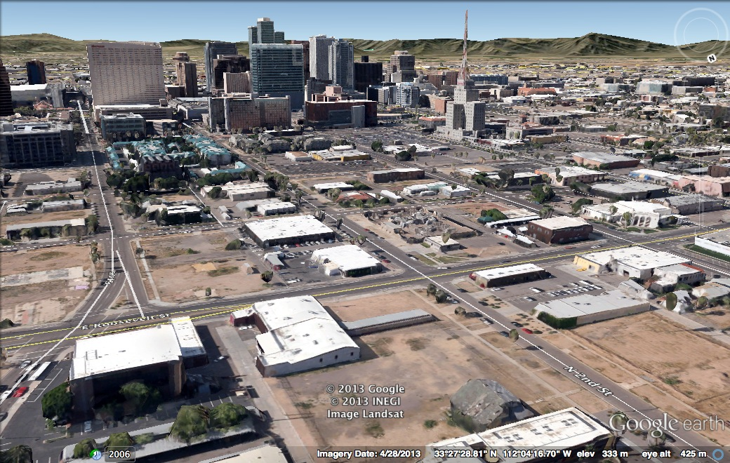 2nd & Roosevelt via Google Earth