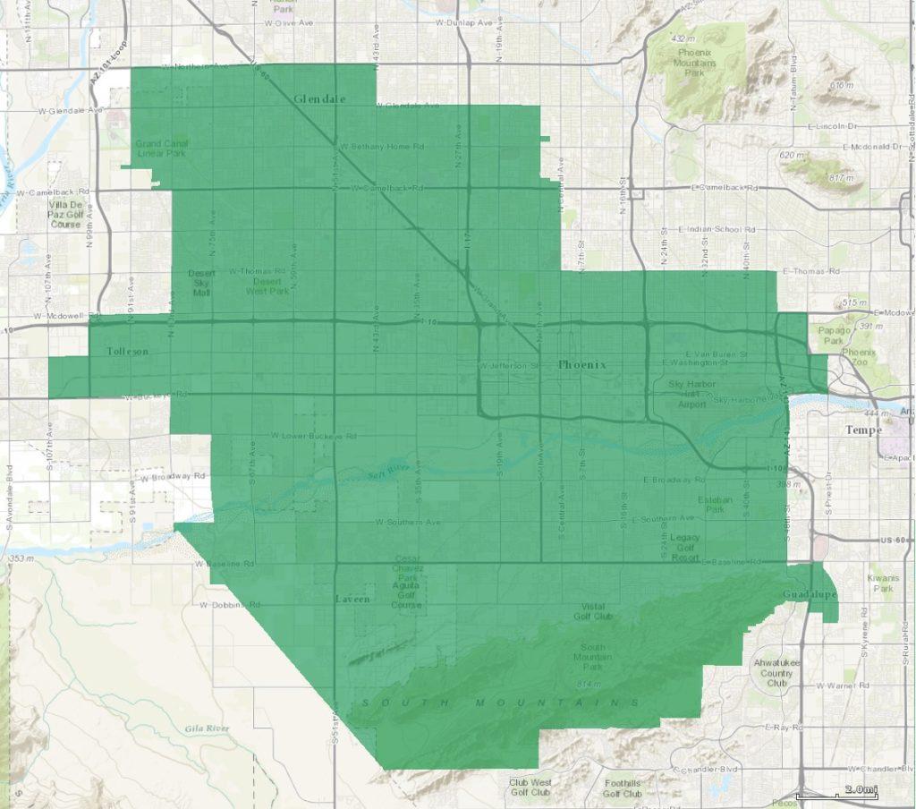 Arizona Congressional District 7 map