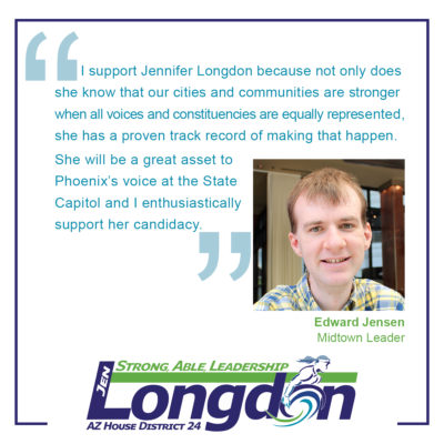 Endorsement Graphic for Jennifer Longdon