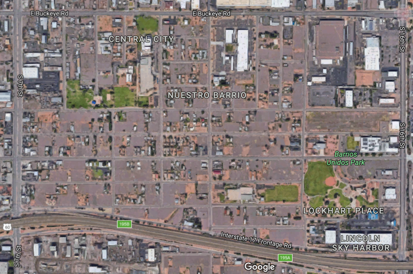 Barrios Unidos aerial photo from Google Maps