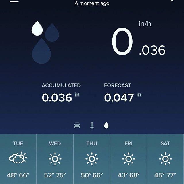 measurable rainfall